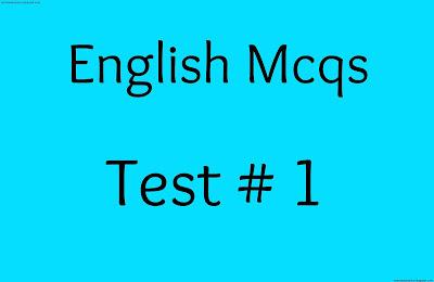 english mcqs test no 1