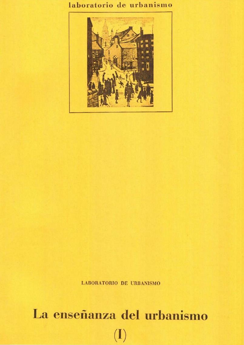 La enseñanza del urbanismo I
