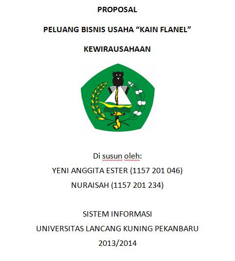 Anggie S Blog Proposal Peluang Bisnis Usaha Kain Flanel Kewirausahaan