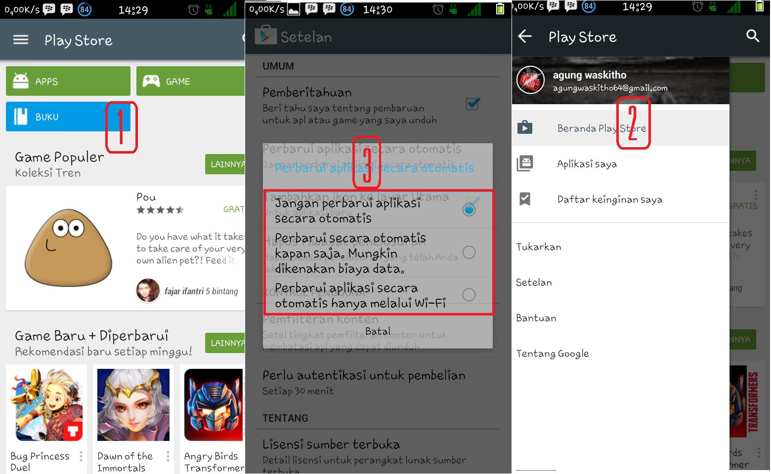 Mematikan Auto Update pada Android