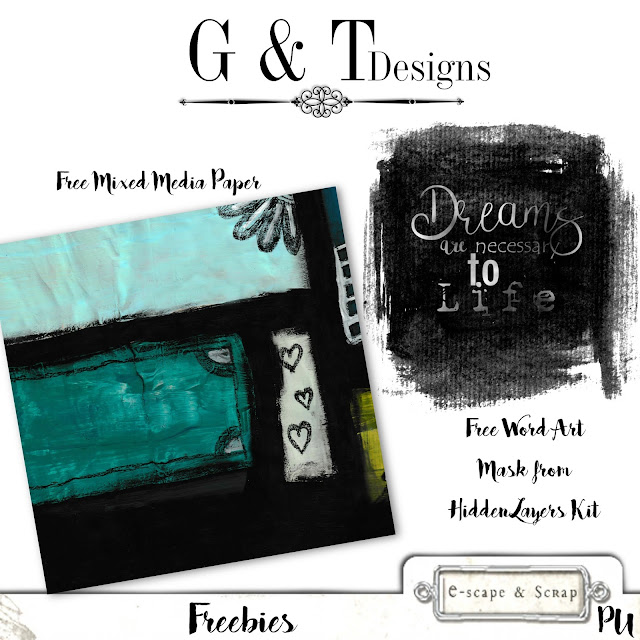 G&T Designs - Mixed Media Papers, Hidden Layers Kit & Freebies