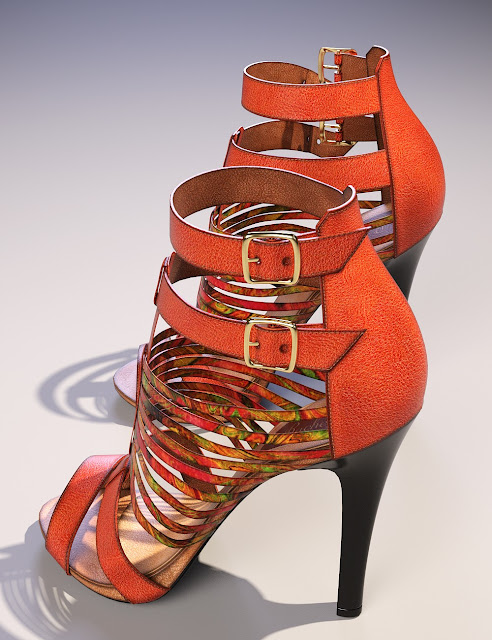 Rachel High Heels for Genesis 3 Female