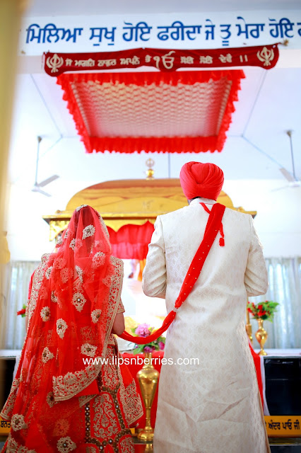 Punjabi couple matching wedding outfits