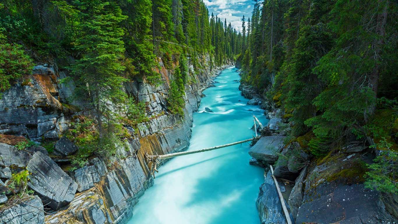 numa falls in kootenay national park british columbia canada by