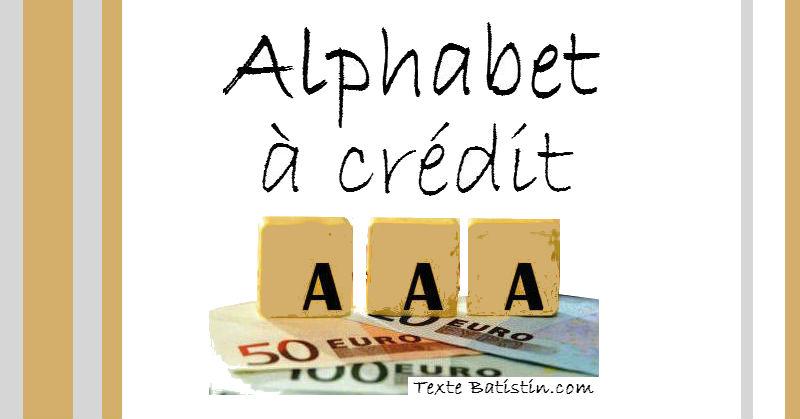Alphabet A Credit par Batistin