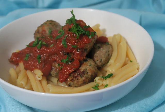 Turkey Meatballs with a simple tomato sauce by Salt Sugar and I