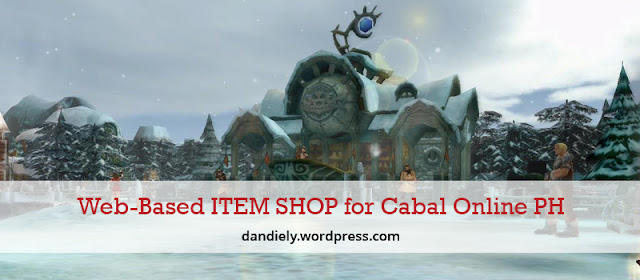 Web-Based ITEM SHOP for Cabal Online PH