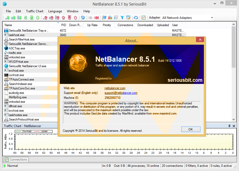 NetBalancer 8.5.1 Full Crack
