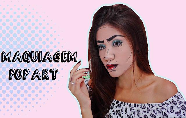 como fazer Maquiagem Pop Art