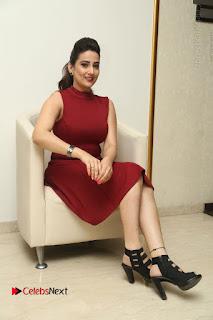Telugu Tollywood Anchor Manjusha Pos in Red Short Dress  0131.JPG