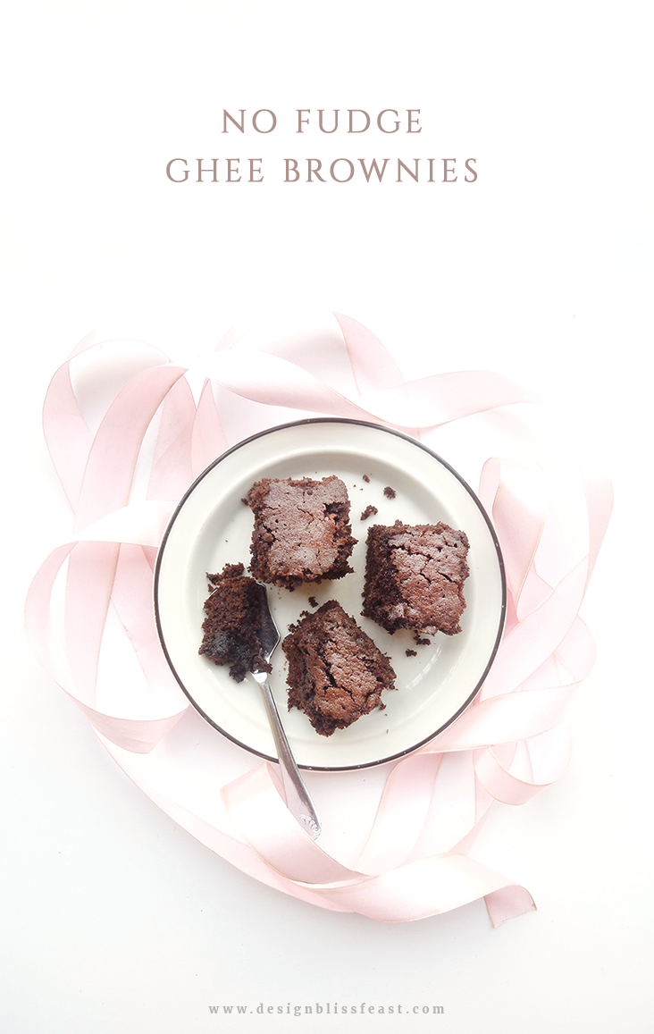 Traditional homemade ghee brownies made with cocoa powder. Homemade brownies. easy brownies recipe. no fudge brownies.