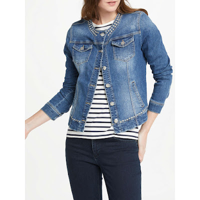 oui studded denim jacket