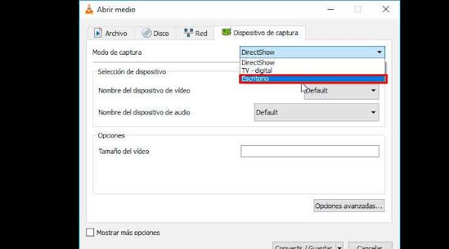 Graba la pantalla de tu PC con VLC Media Player