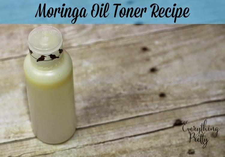 Moringa Oil facial toner recipe.