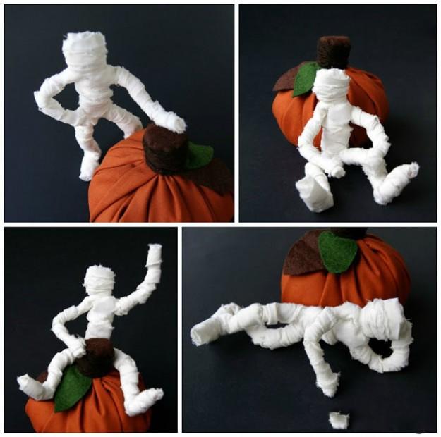 игрушки на Хэллоуин, Хэллоуин, поделки,  поделки на Хэллоуин, поделки своими руками, оформление праздничное, декор на Хэллоуин, интерьер на Хэллоуин, тыквы, привидения, ведьмы, ужасы,  украшения на Хэллоуин, Хэллоуин, как сделать мумию из проволоки своими руками http://handmade.parafraz.space/