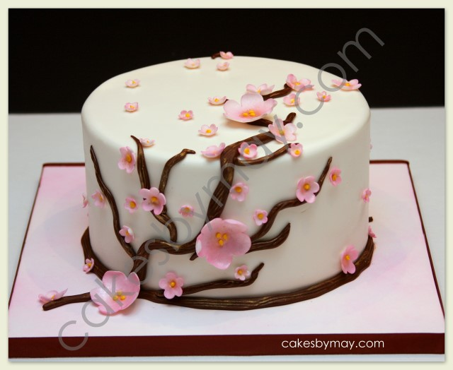 Cakes By Maylene Roses And Cherry Blossoms Birthday