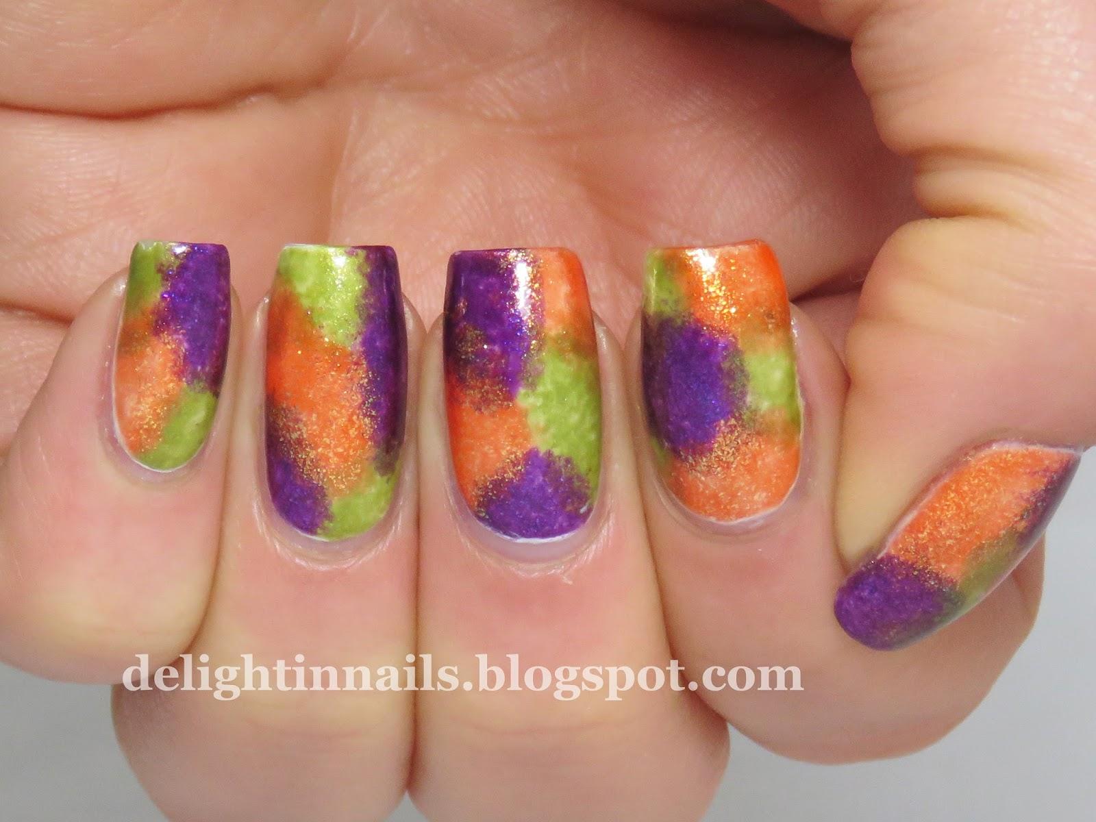 Delight In Nails: 40 Great Nail Art Ideas - Orange, Purple ...