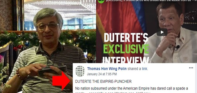 'Duterte the Empire Puncher' - former international journalist Thomas Hon Wing Polin on PRRD | PTN