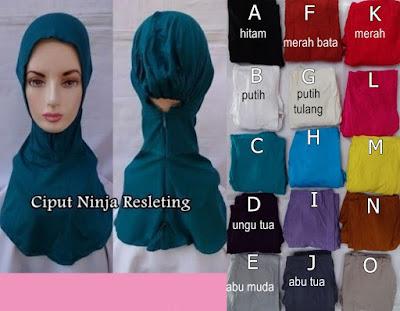 Model Jilbab Terbaru Ciput Ninja Resleting