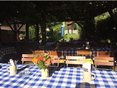 Pre-wedding party at the Biergarten - Birdcage vintage wedding - Irish wedding in Bavaria, Riessersee Hotel Garmisch-Partenkirchen, wedding venue abroad