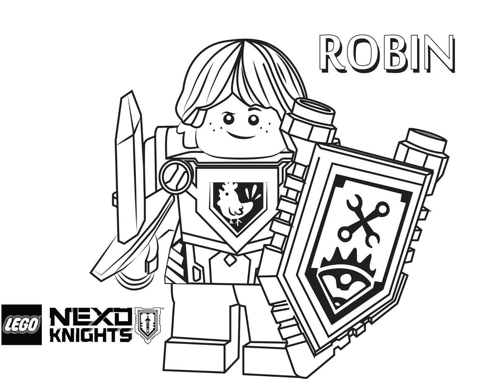 Desenhos De Cavaleiro Robin Feliz Para Colorir E Imprimir