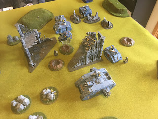 40k SW vs GSC Deployment Space Wolves force