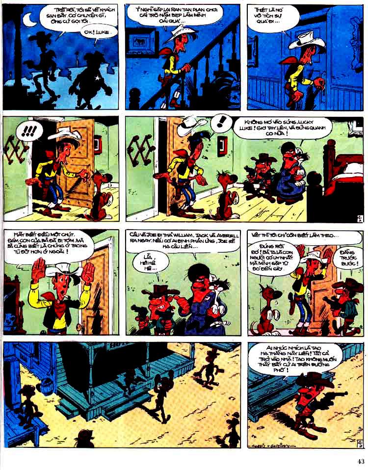 Lucky Luke tap 15 - ma dalton trang 44