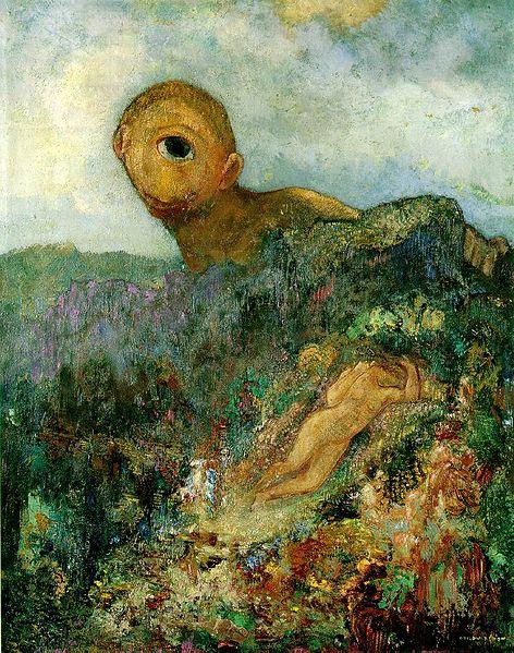 オディロン・ルドン、不気味な「目」を描いた画家の作品、10枚【a】 キュクロープス 1914