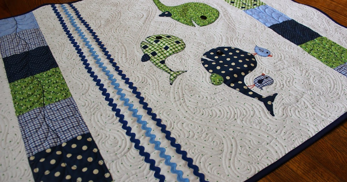 Katie S Quilts And Crafts A Whale Of A Baby Quilt