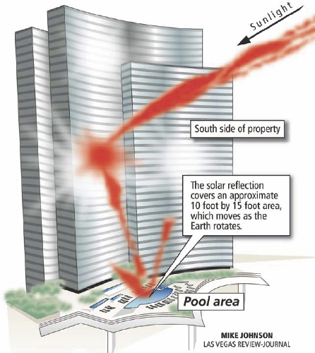 The Hopeful Traveler Vdara Hotel Death Ray in Las Vegas
