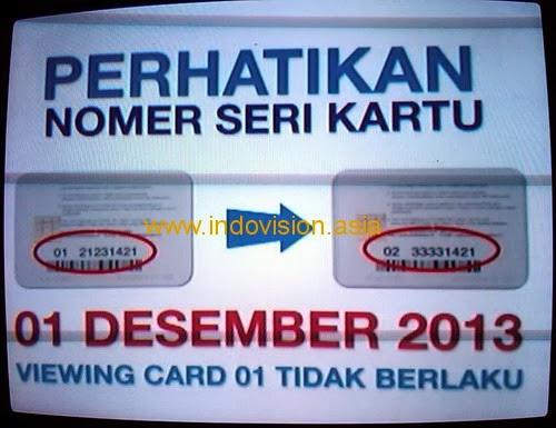 Cara tukar viewing card atau kartu tayang Indovision.