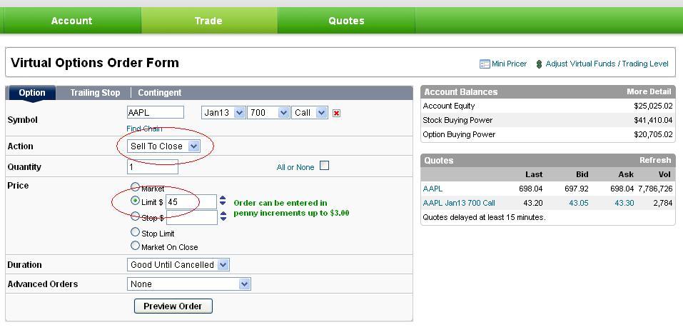 Cara virtual trading optionsxpress