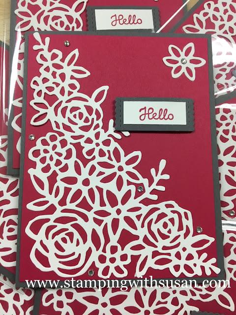 Stampin' Up!, Springtime Impressions Thinlits, Stitched Labels Framelits,