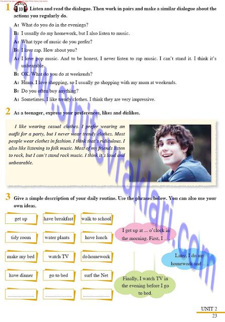8. Sınıf İngilizce Ders Kitabı Cevapları Tutku Yayınları Sayfa 23