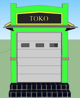 Contoh Desain Toko di Pemukiman