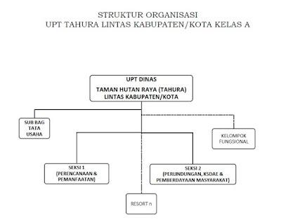 Struktur Organisasi UPTD TAHURA KELAS A