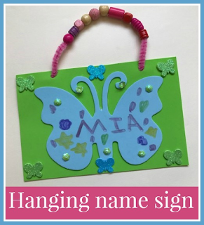 Butterfly name sign craft
