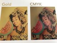 het verschil tussen CMYK en golddruk
