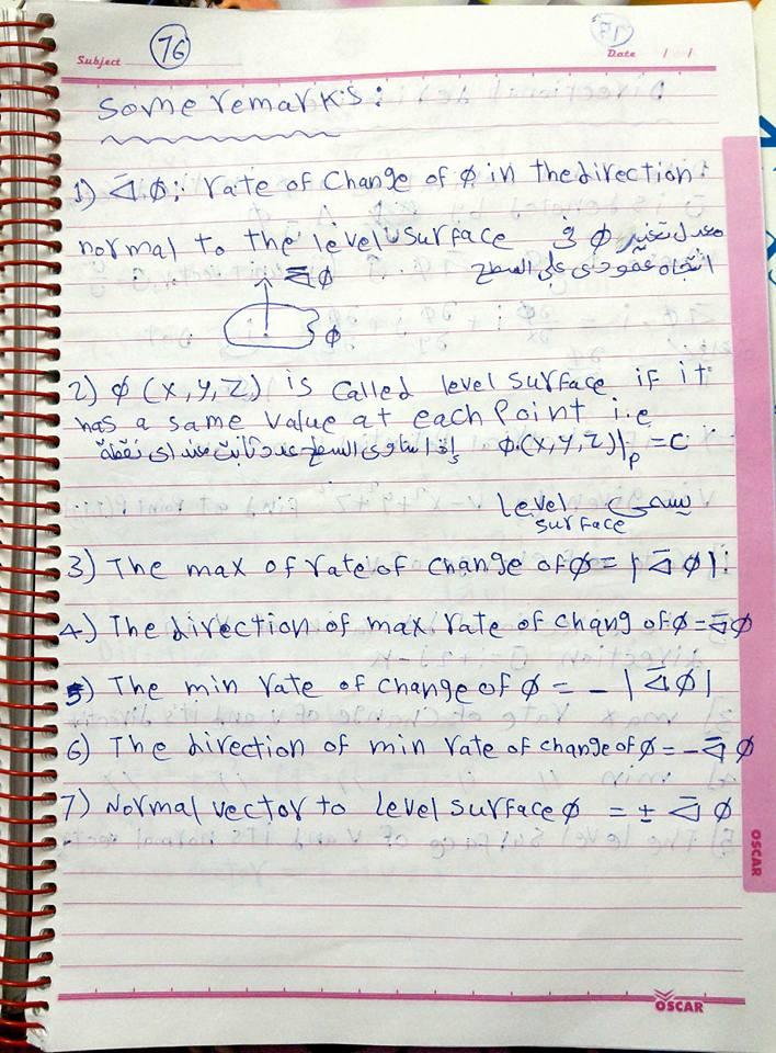 المحاضرة 11 رياضة 3 فرقة اولي باور هندسة الشروق للدكتور حمدي ترم اول (Vector Analysia) لعام 2016  وتتناول الاتي:vector analysis-field theory-properties of gradient-directional divergence-rotation