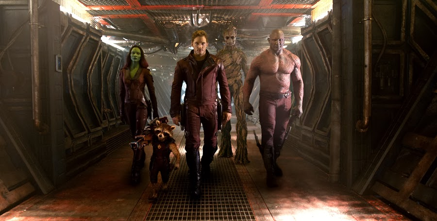 Guardians Of The Galaxy: Zoe Saldana, Bradley Cooper, Chris Pratt, Vin Diesel şi Dave Bautista
