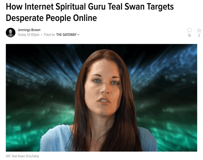 How Internet Spiritual Guru Teal Swan Targets Desperate People Online