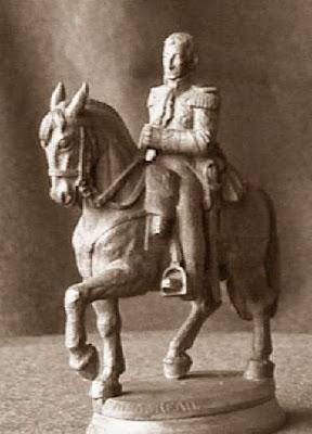 Cuarto juego de ajedrez, mariscal Augereau, caballo negro