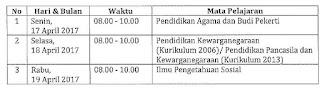 Jadwal USBN SMP Tahun 2017