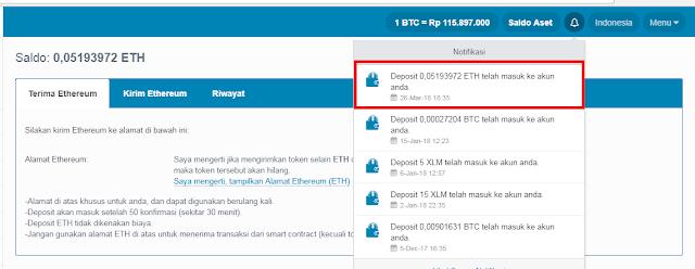 Bukti Pembayaran ETH Gratis dari Situs Qryptos
