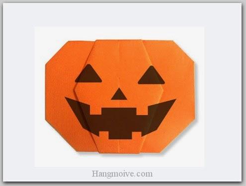 Cách gấp, xếp quả bí ngô Halloween bằng giấy origami - Video hướng dẫn