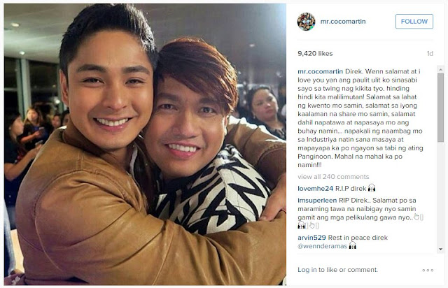 Celebrities Expressed Their Sorrow Towards The Passing Of Direk Wenn Deramas!