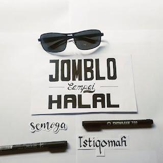 Tipografi kata-kata bijak jomblo