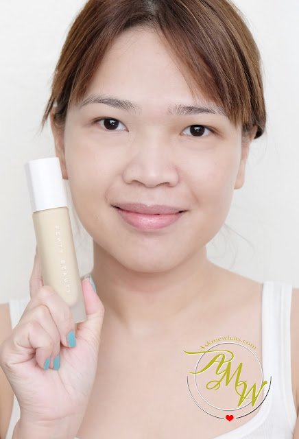 a photo of Fenty Beauty by Rihanna Pro Filter Soft Matte Longwear Foundation Review_Nikki Tiu