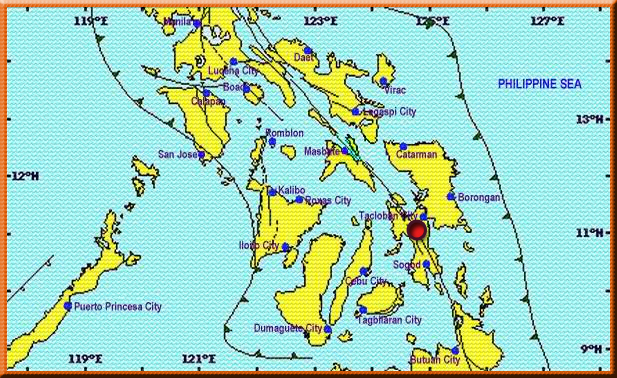 PHIVOLCS Image Map for the 2.9 magnitude earthquake spotted at Burauen (Leyte) on 09 January 2018.