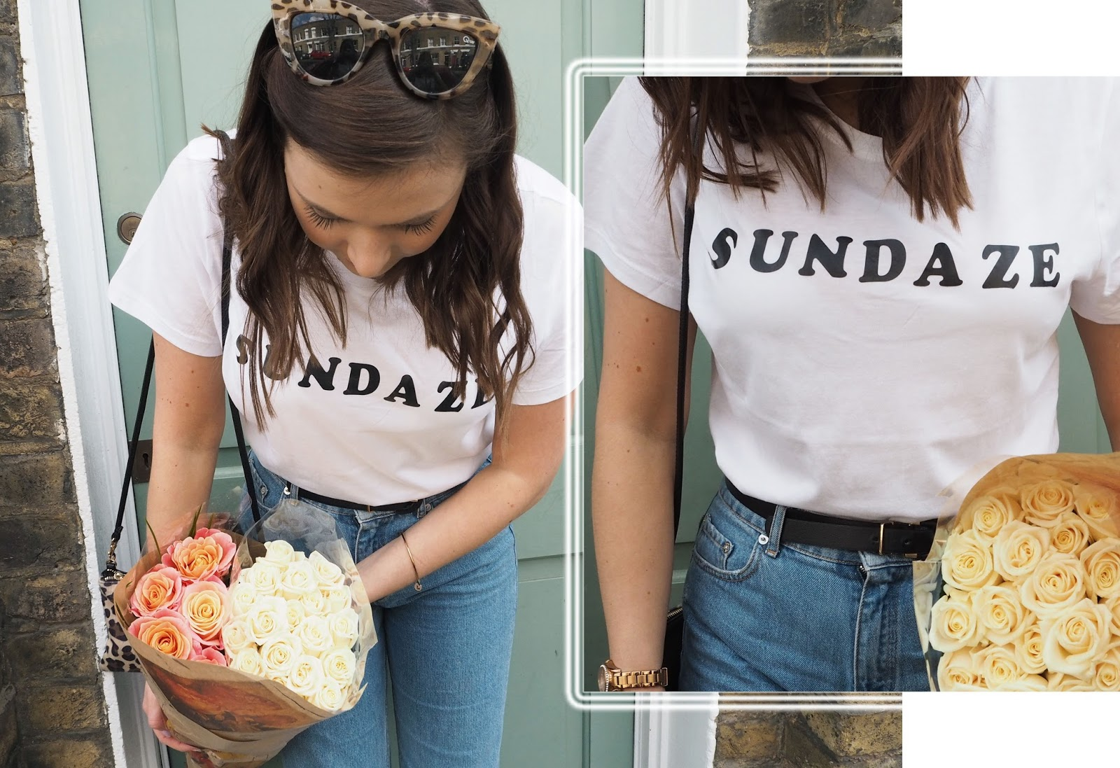 SUNDAZE at Columbia Flower Market // Lauren Rose Style // Fashion OOTD Logo T-shirt // London